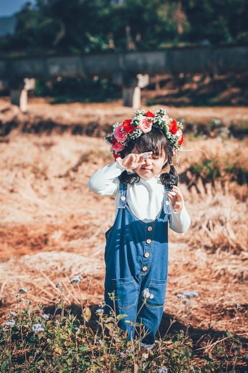 귀여운, 단란함, 들판, 딸의 무료 스톡 사진