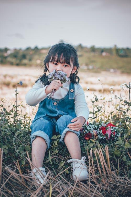 Imagine de stoc gratuită din adorabil, câmp, cer, copil