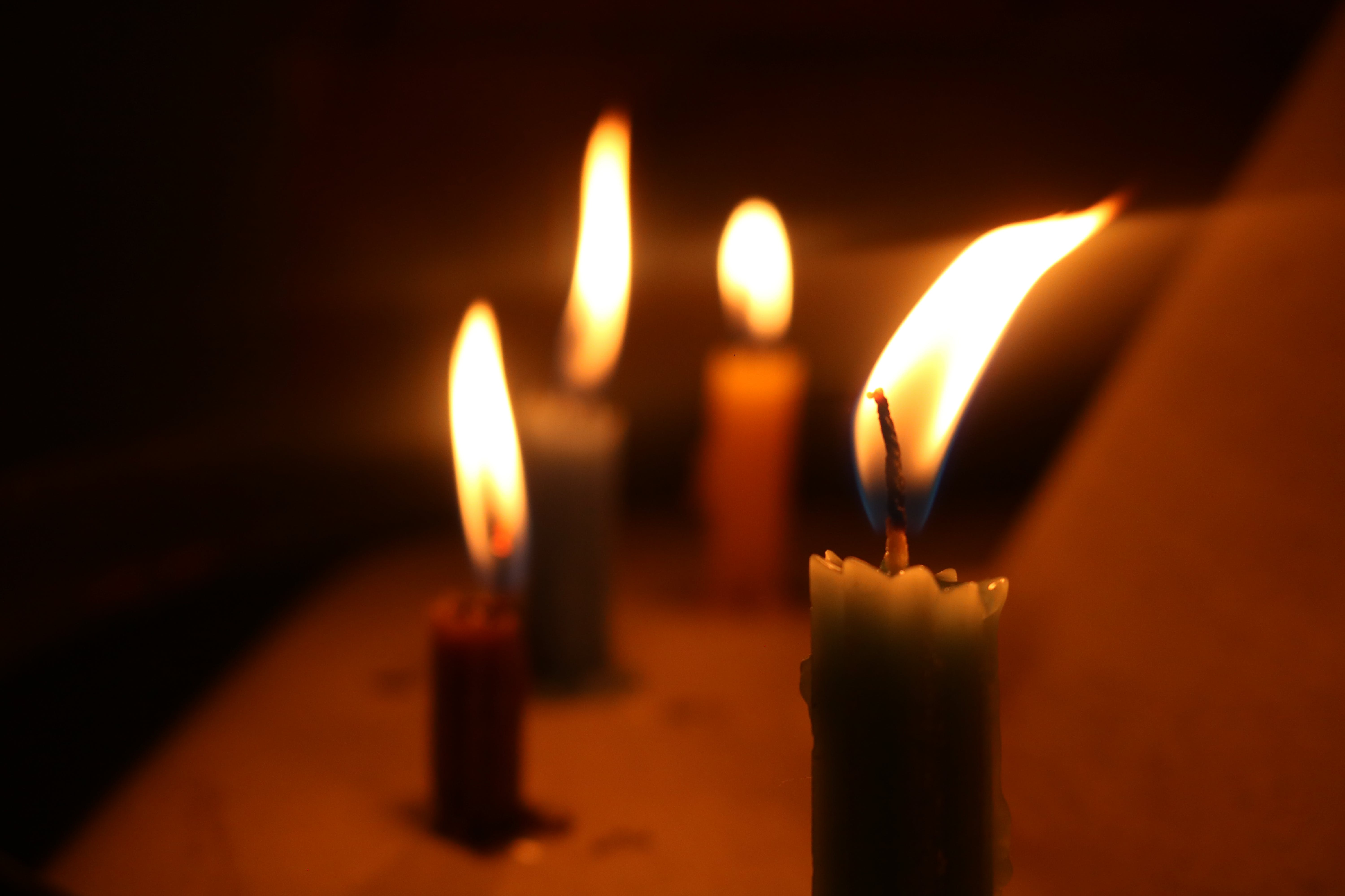 Free stock photo of candle, candles, flame, light