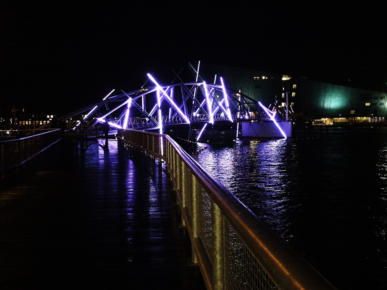 Free stock photo of amsterdam, bridge, lights, neon