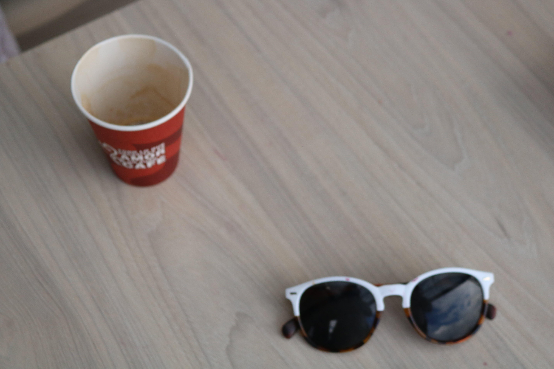 Free stock photo of coffe, sunglasses