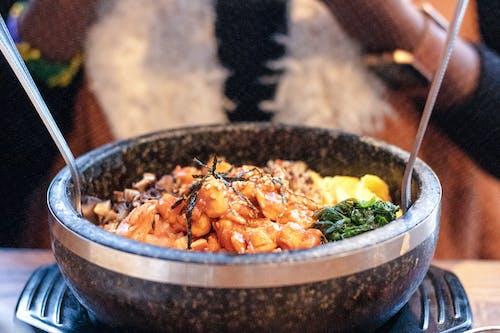 Free stock photo of asian food, bibimbap, eating healthy, food