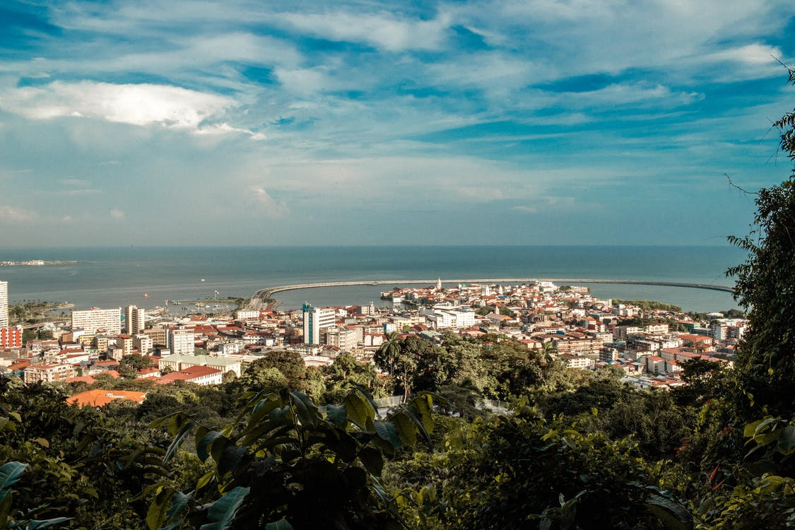 View of City on Coast