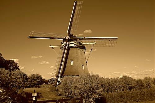 Бесплатное стоковое фото с аудеркерк-ан-де-амстел, ветряная мельница, Голландия, де цваан
