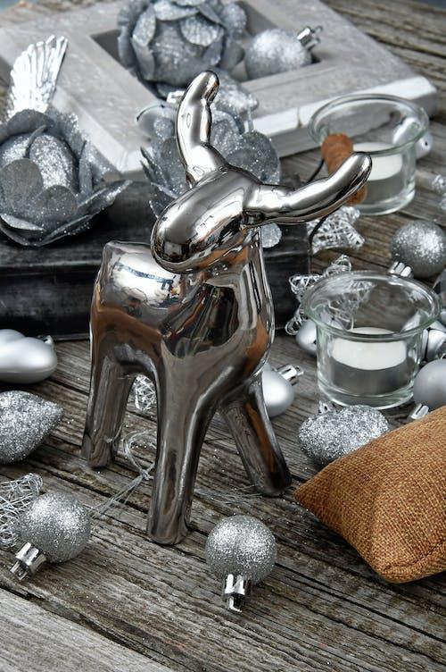 Shiny Silver Deer Christmas Figure Decor
