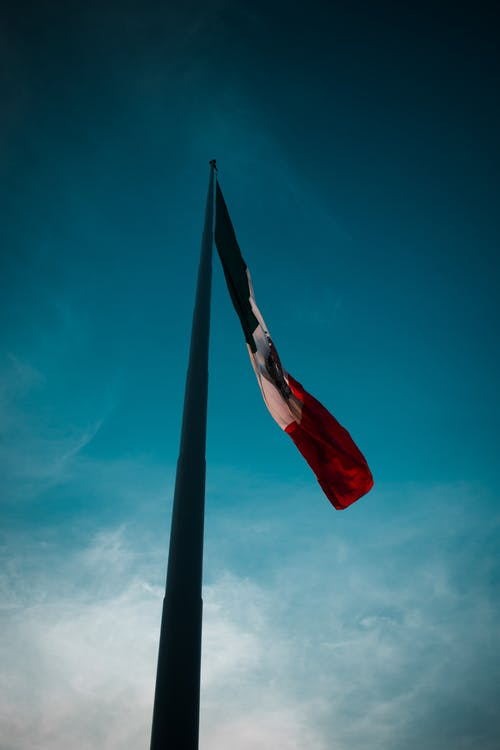 Free stock photo of bandera, blue sky, mexico