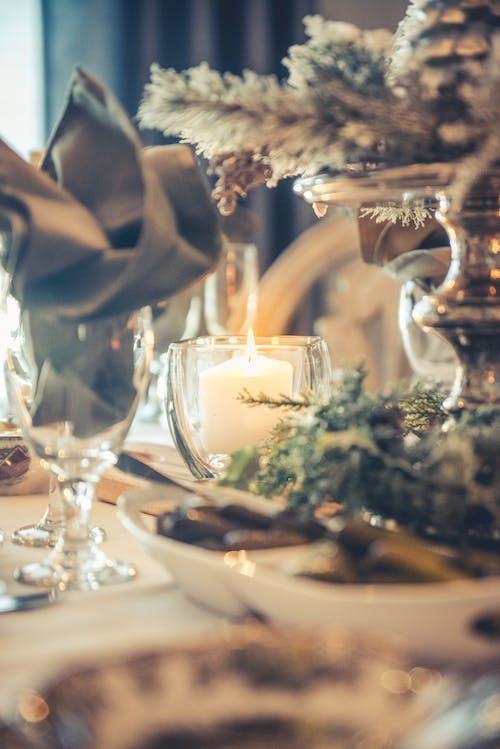 Immagine gratuita di candela, cena, natale