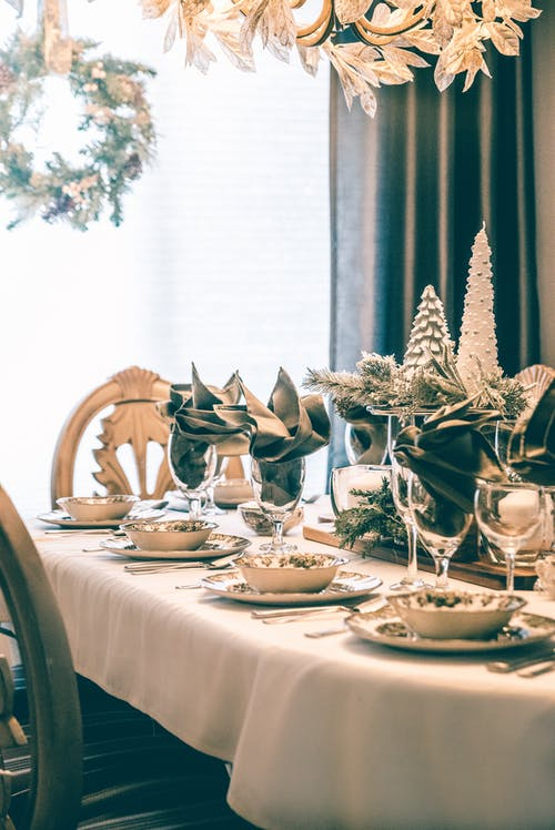 Free stock photo of bowls, chairs, christmas decorations