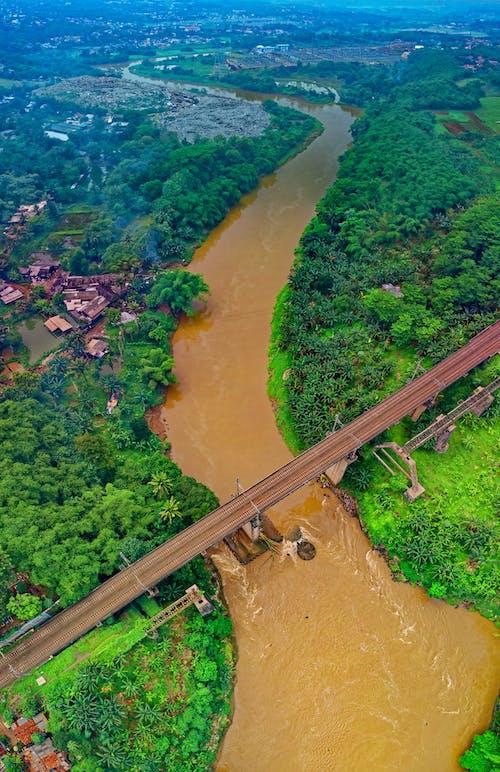 Безкоштовне стокове фото на тему «Індонезія, з висоти польоту, залізниця, залізнична колія»