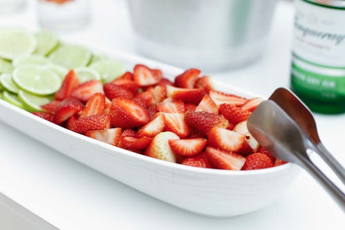 Strawberry In White Bowl