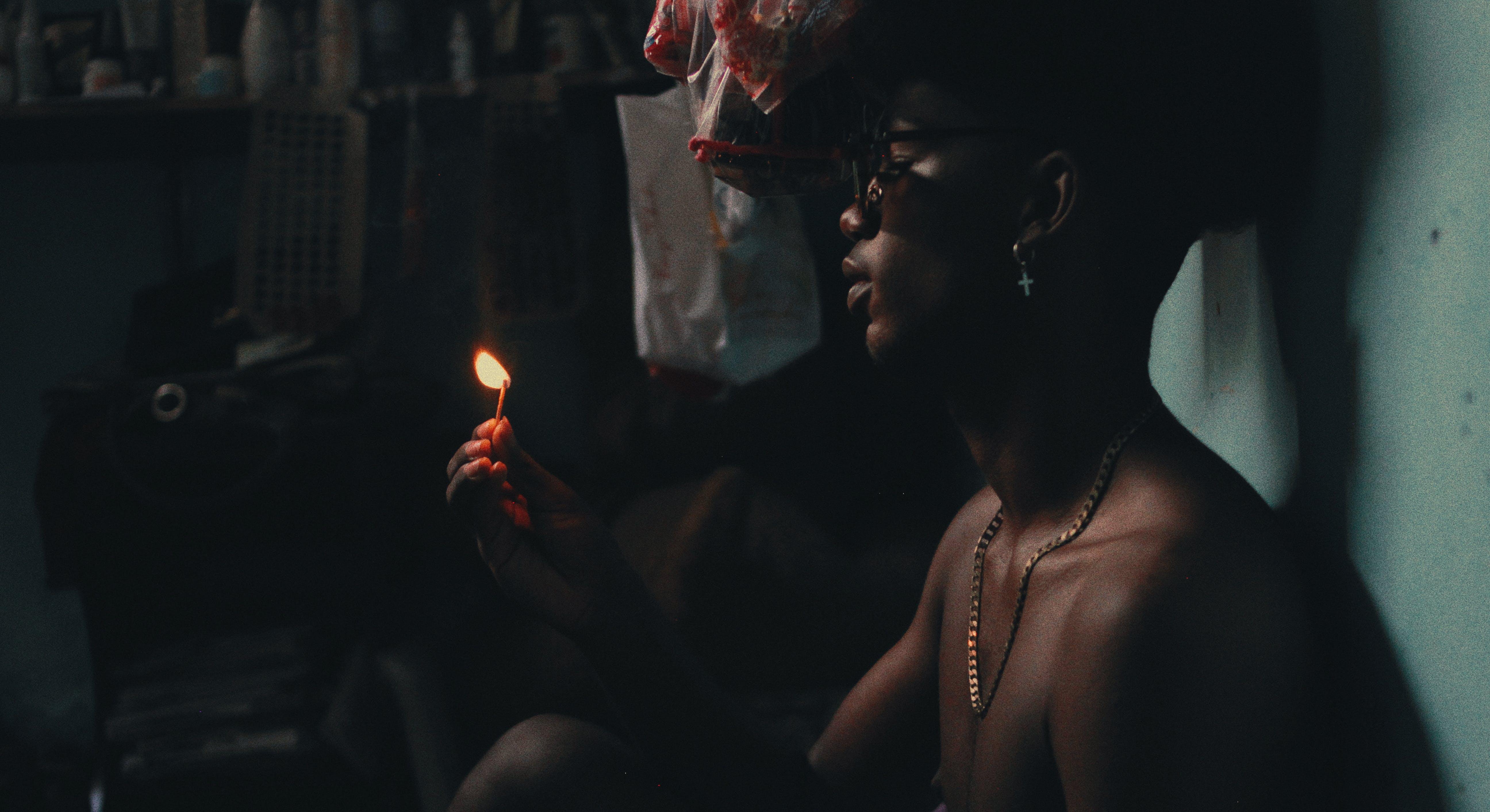 おとこ, ダーク, 人, 火の無料の写真素材