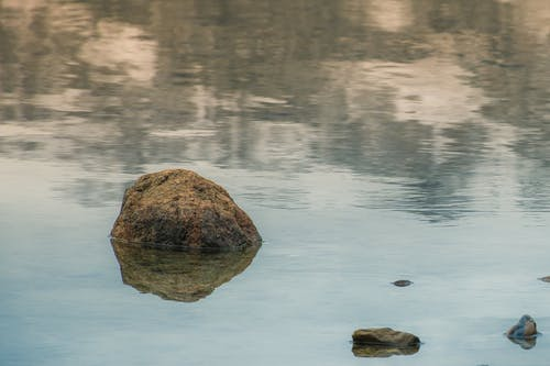 Photos gratuites de caillou, eau, pierre, reflet