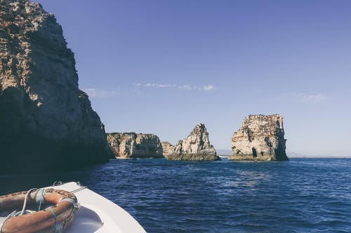 Imagine de stoc gratuită din barcă, colac de salvare, concediu, faleză