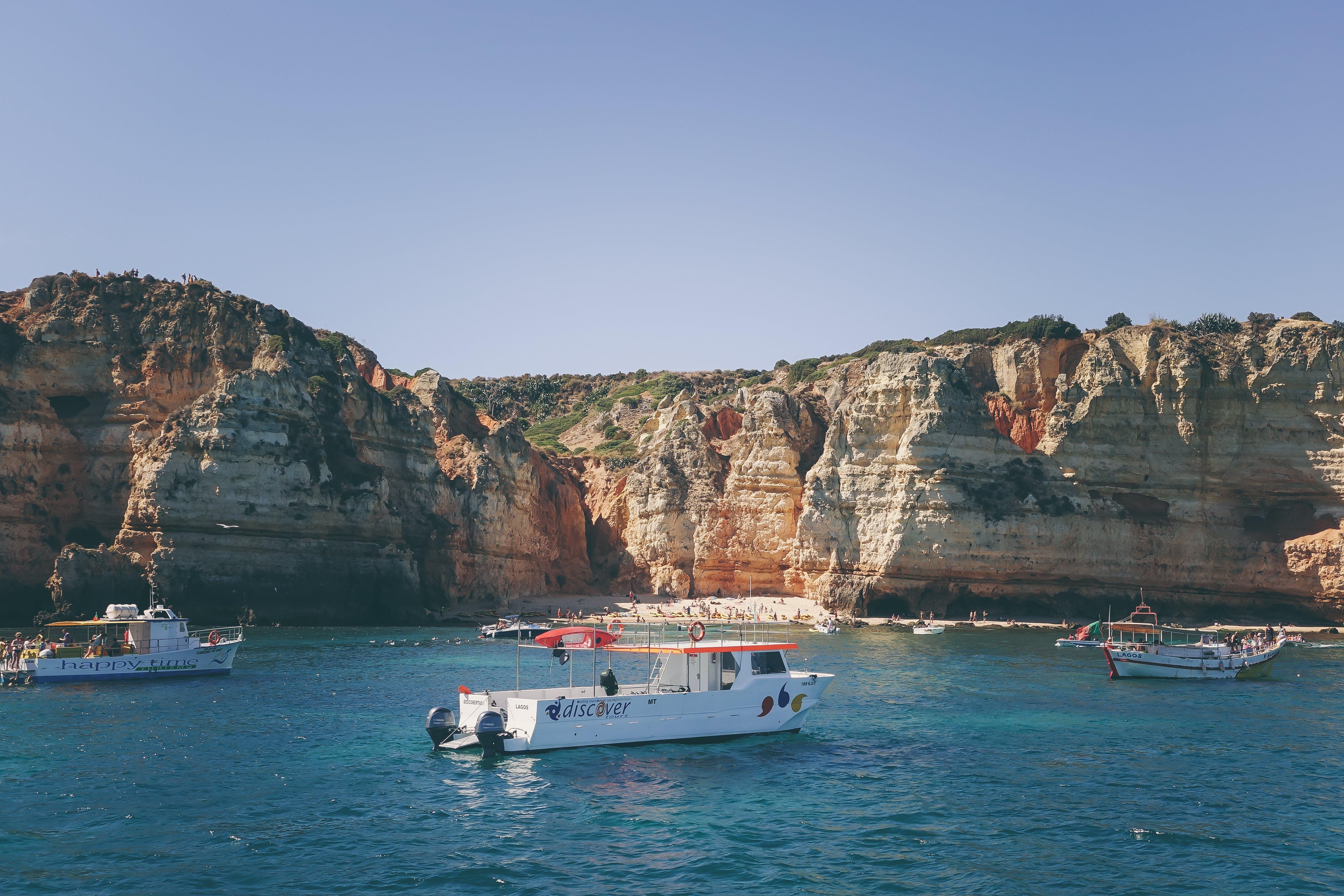 Kostnadsfri bild av båtar, hav, transportsystem, vattenscotrar