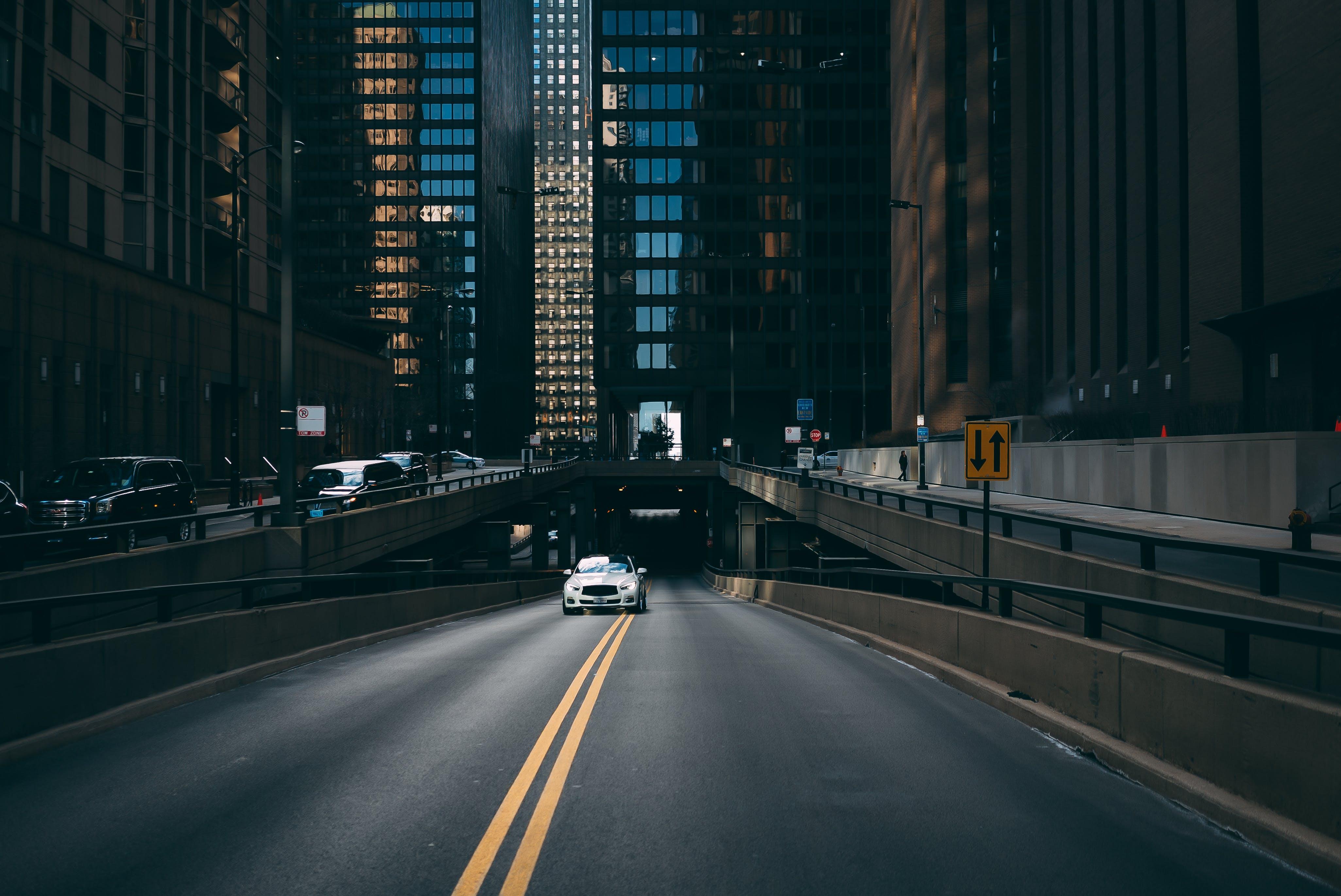 arkitektur, bevægelse, biler