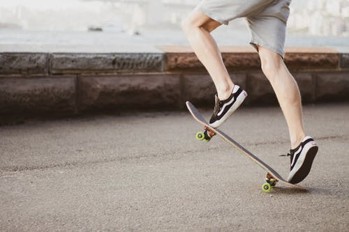 Man freeriding on Longboard