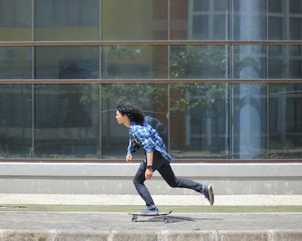 Free stock photo of man, person, sidewalk, glass
