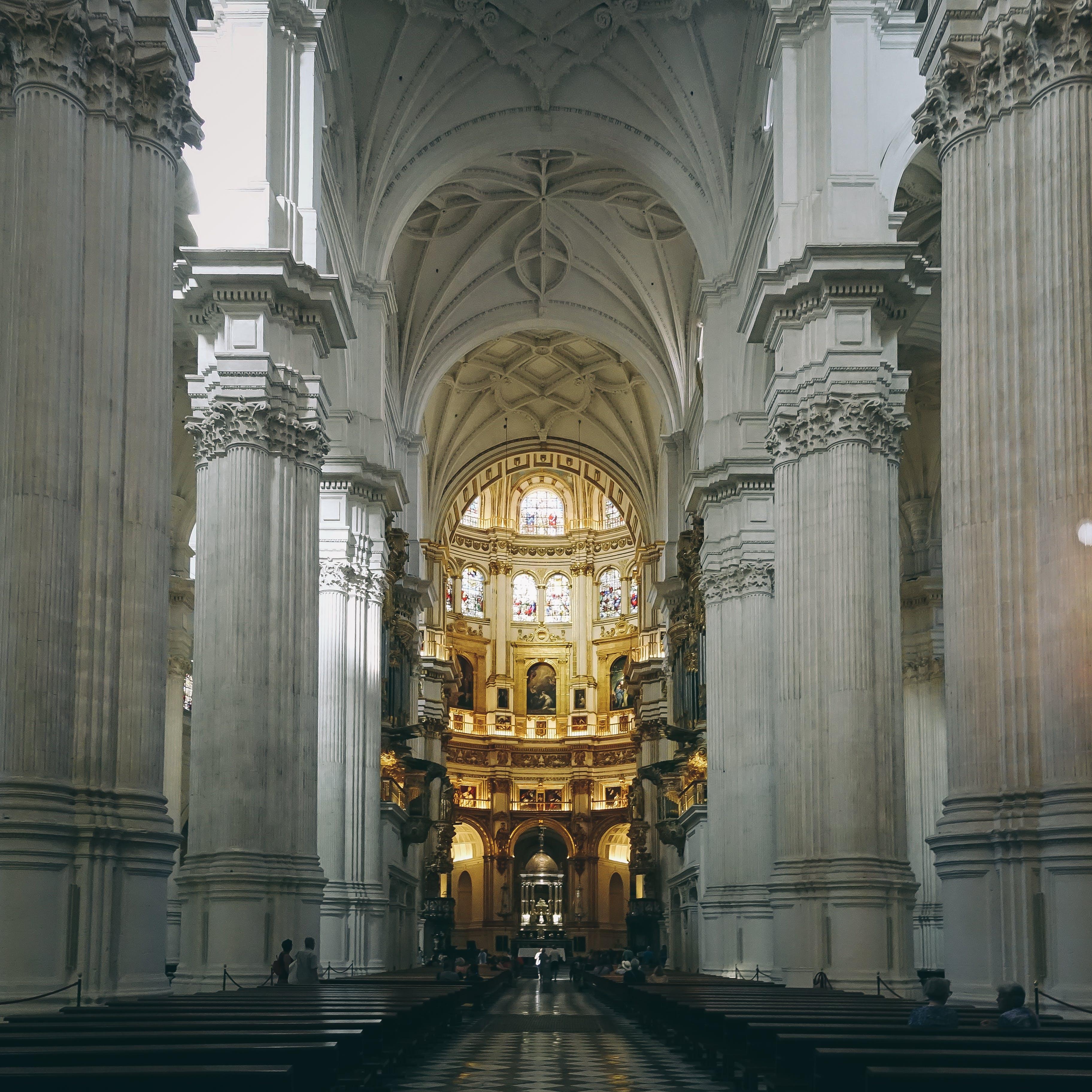 Lighted Church Interior