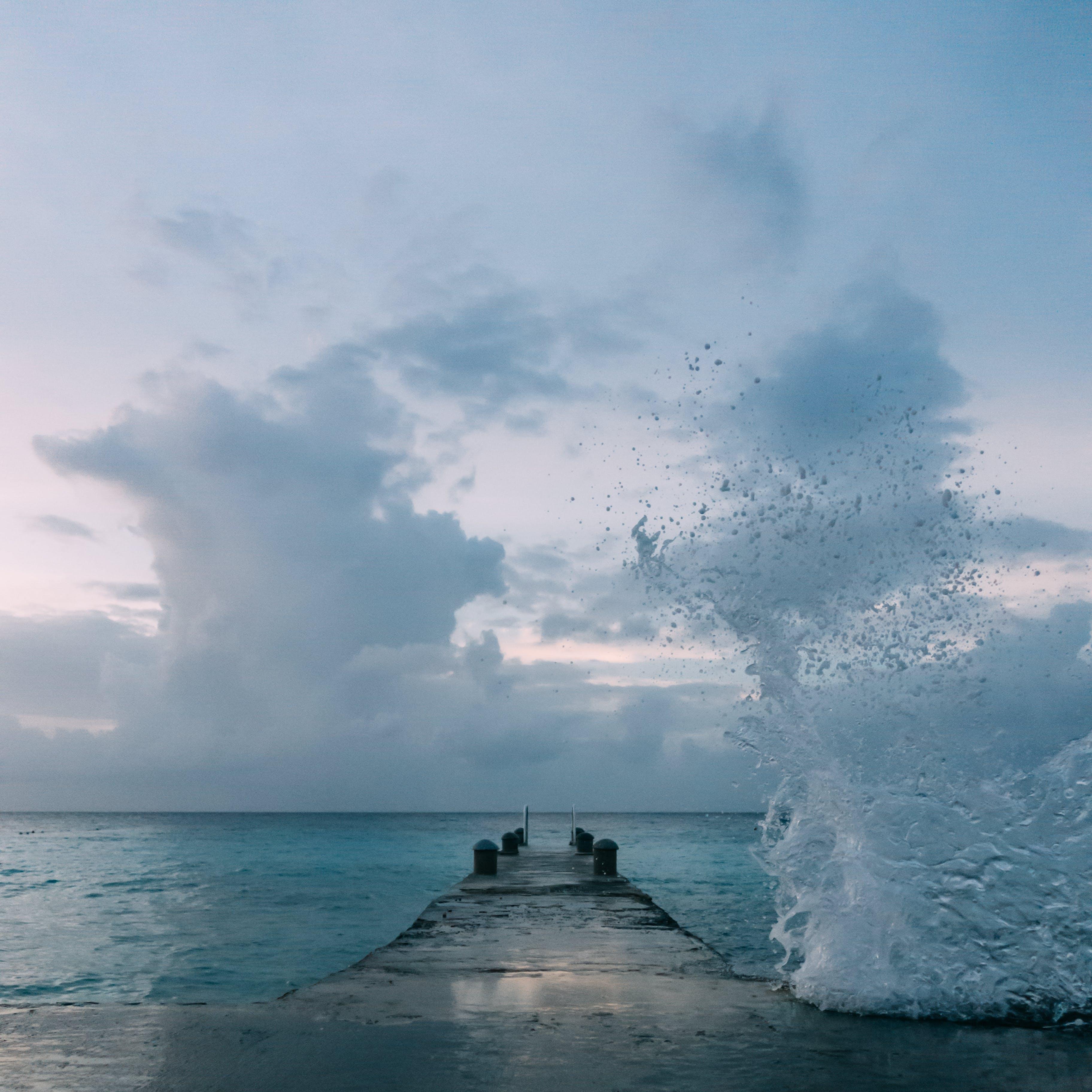 Ilmainen kuvapankkikuva tunnisteilla hiekkaranta, horisontti, laituri, luonto