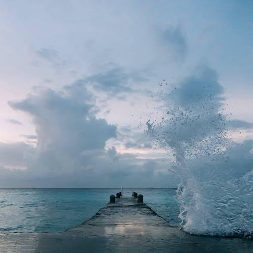 Kostenloses Stock Foto zu anlegesteg, dock, himmel, horizont