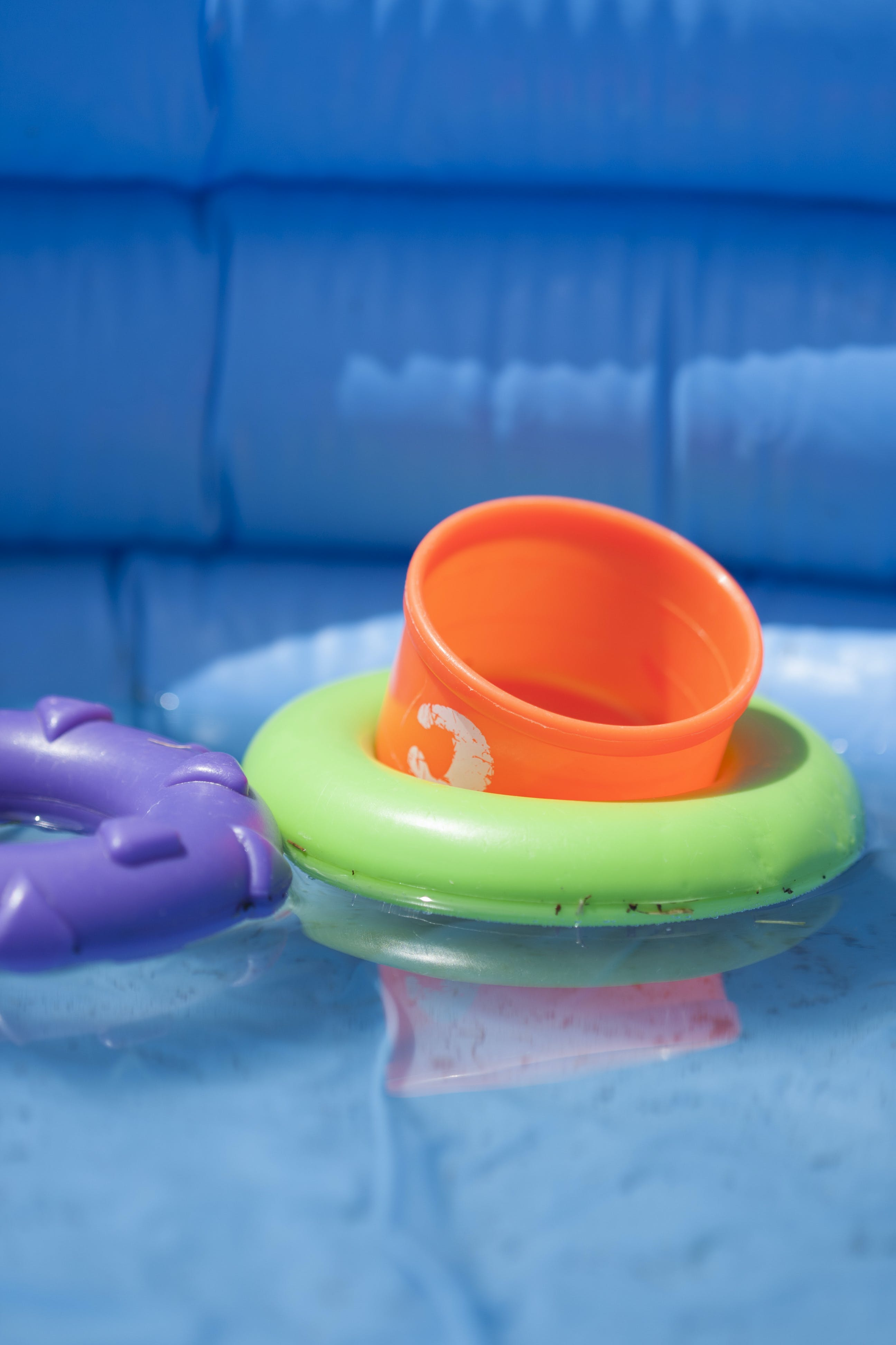 Free stock photo of pool, rings, stacking rings, swimming