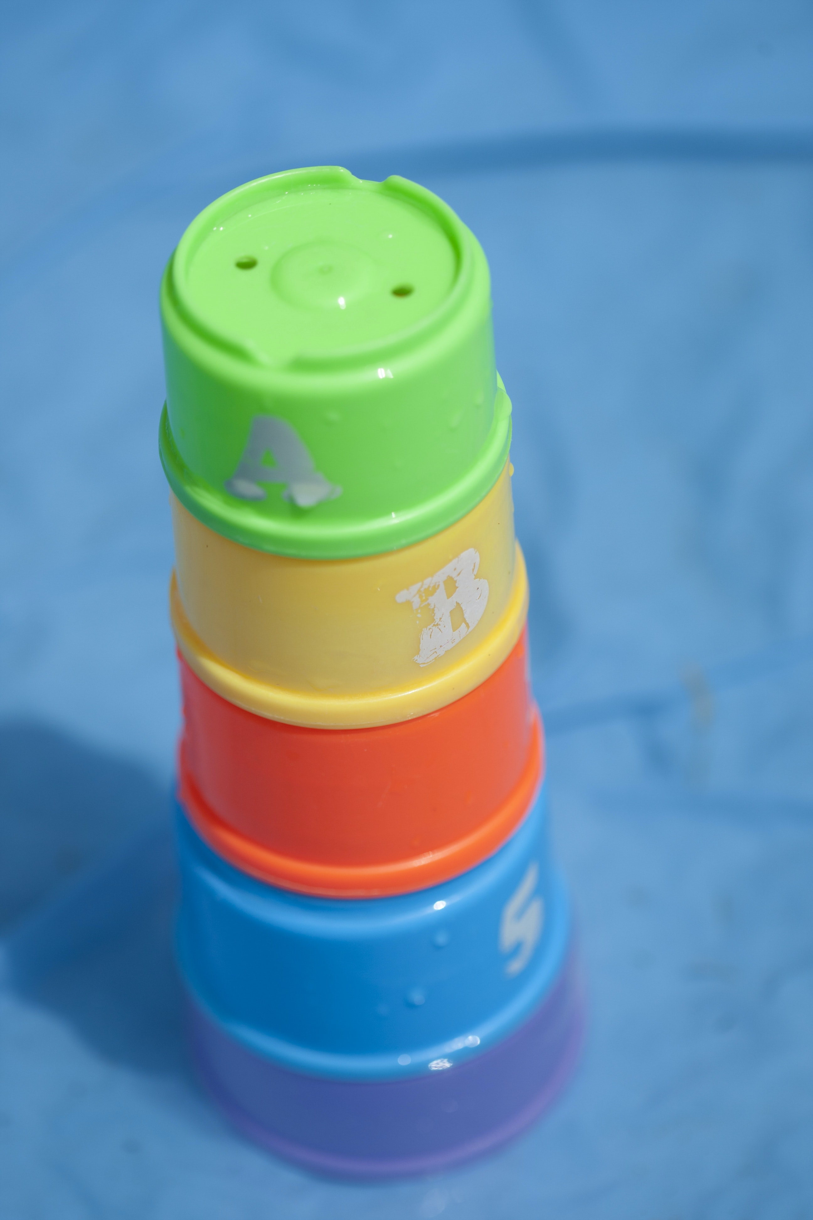 Free stock photo of kids toys, pool safety, stacking tower