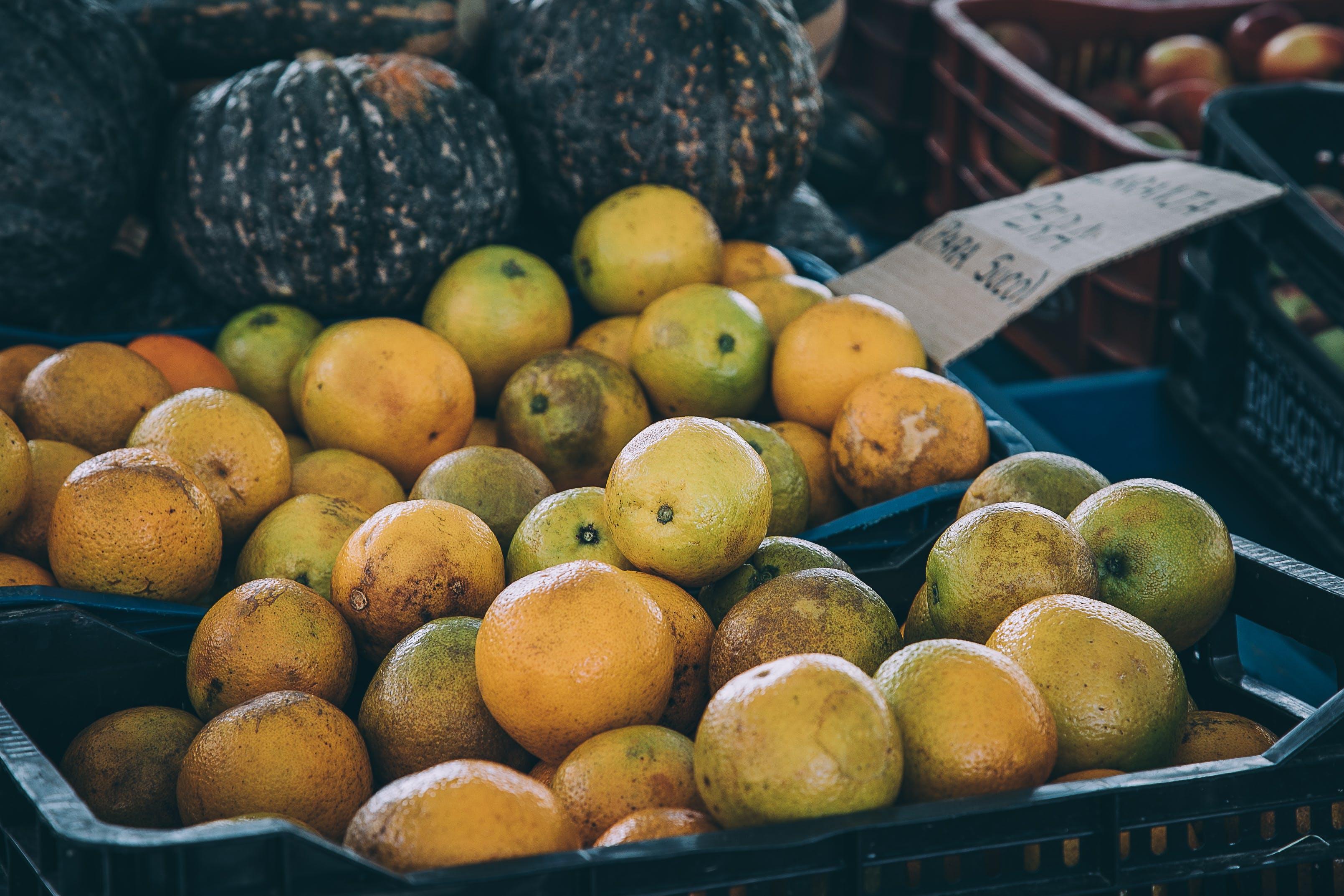 Photo of Orange Fruits in Trays