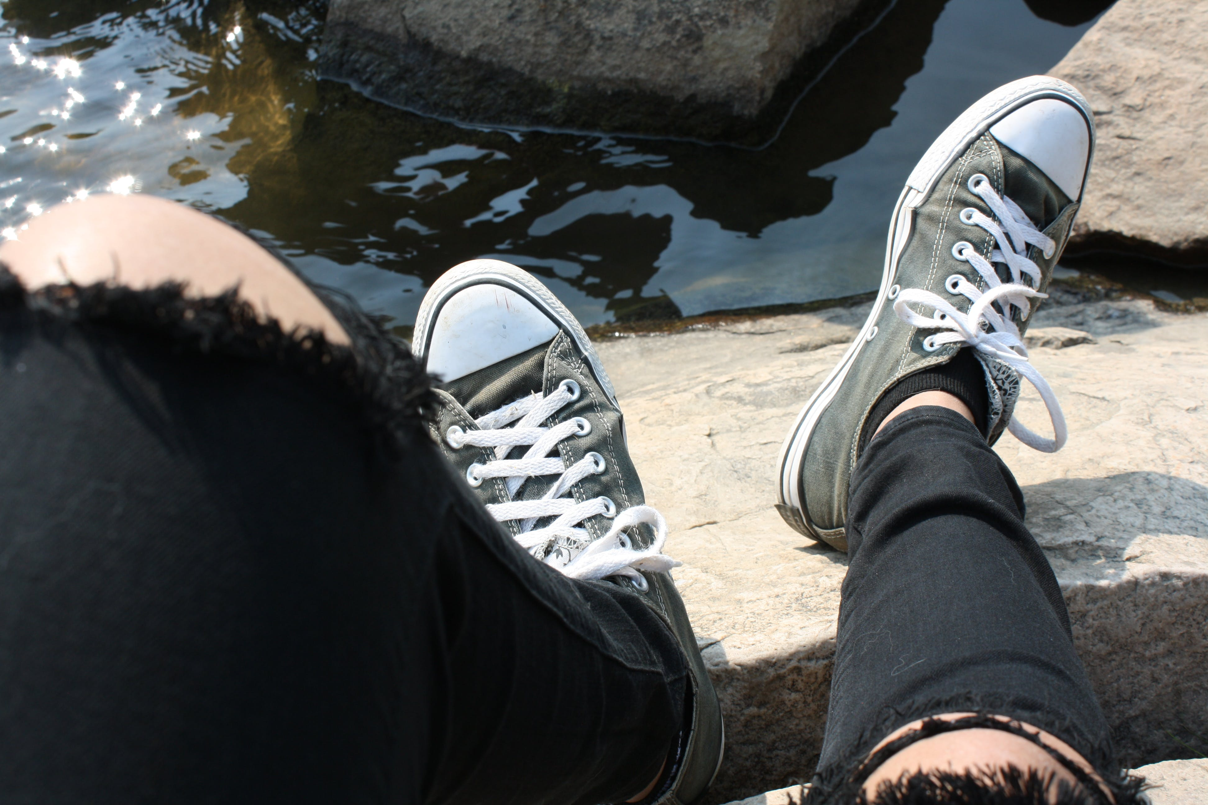 Free stock photo of black shoes, converse all-star