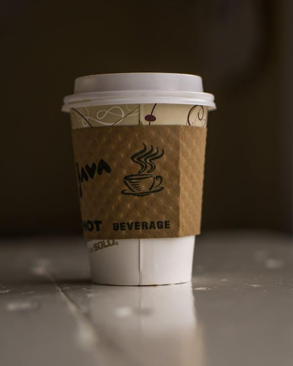 горячий, контейнер, кофе