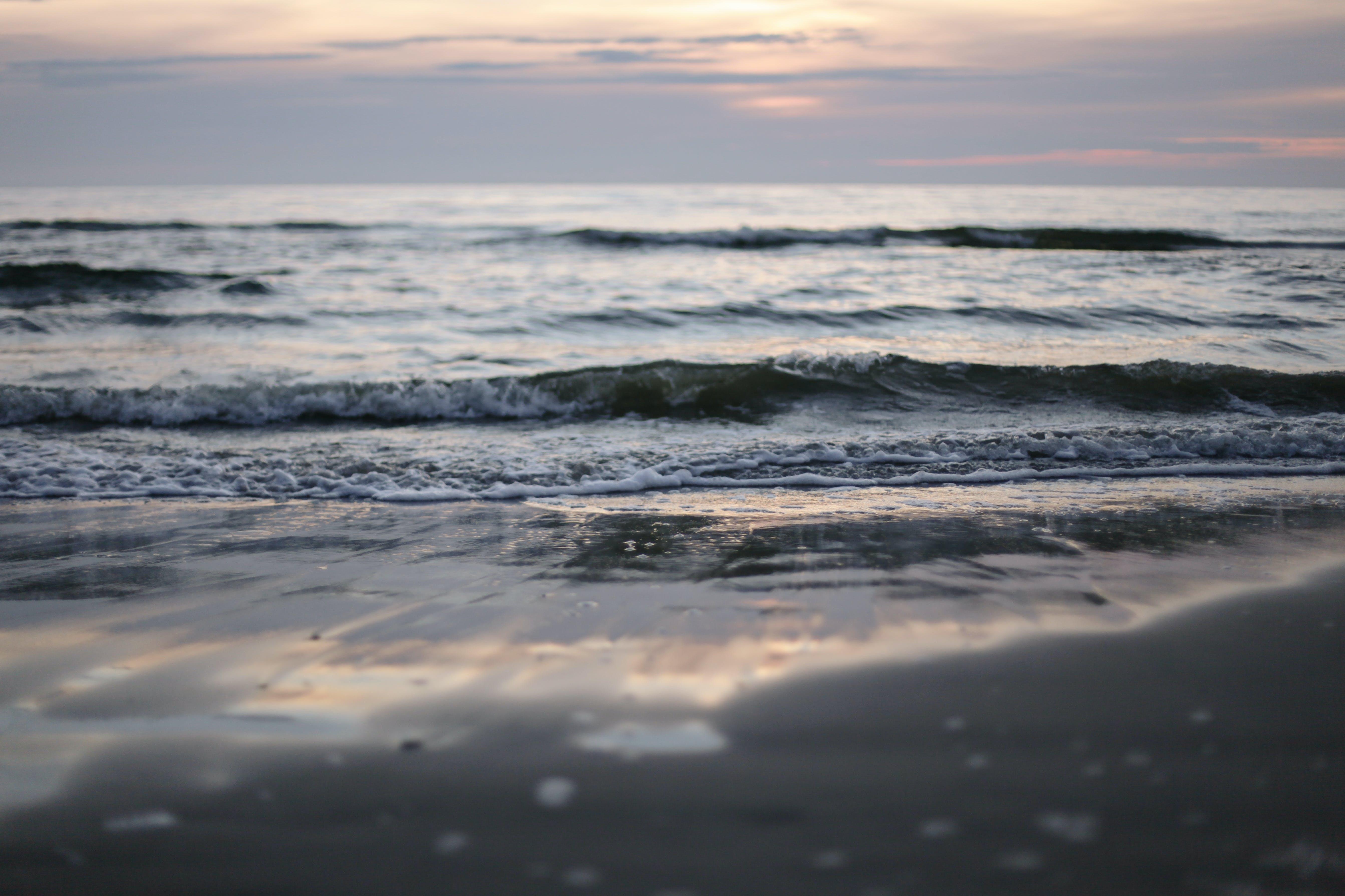 Δωρεάν στοκ φωτογραφιών με 4k ταπετσαρία, oceanshore, ακτή του ωκεανού, Ανατολή ηλίου