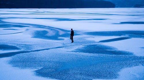 Photos gratuites de nuances de bleu, seul
