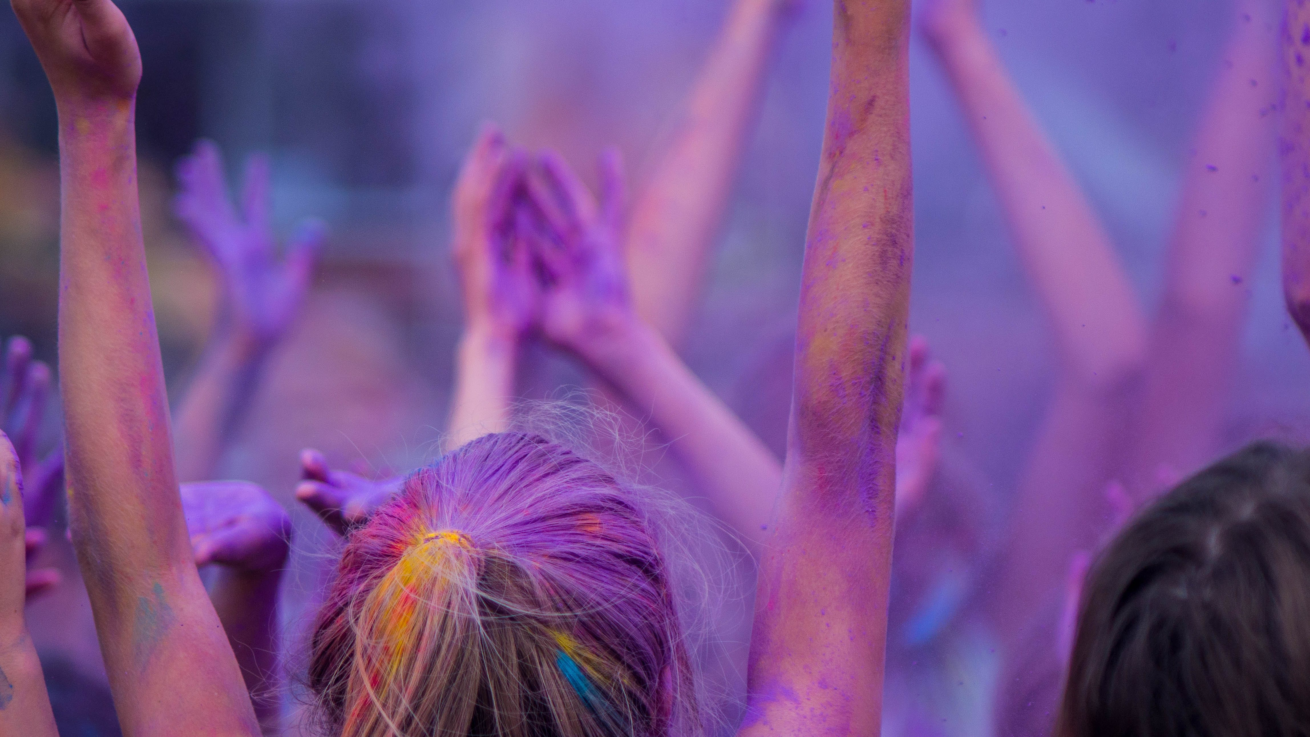 Free stock photo of crowd, purple