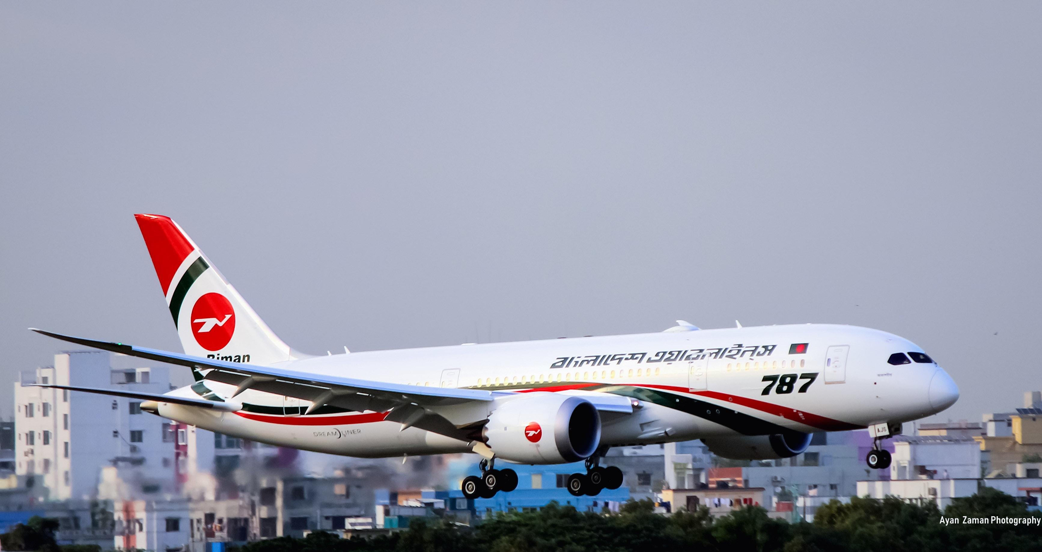 Free Stock Photo Of Biman Bangladesh Airlines Boeing 787