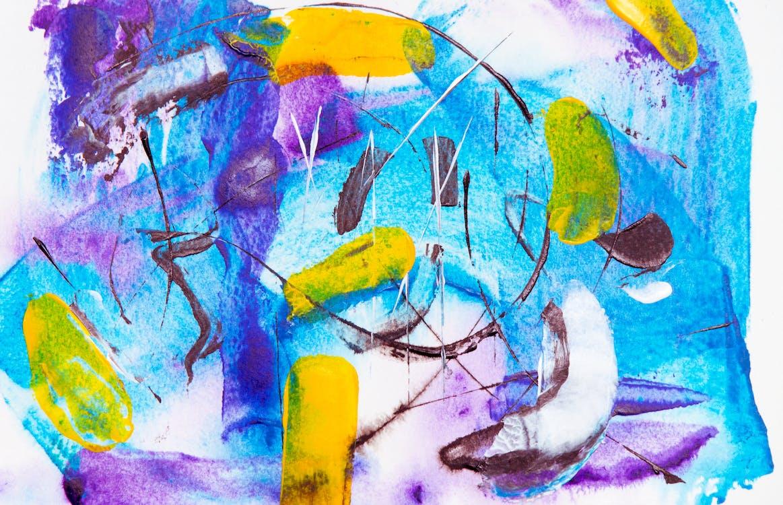 abstrakcyjny ekspresjonizm, akryl, artystyczny