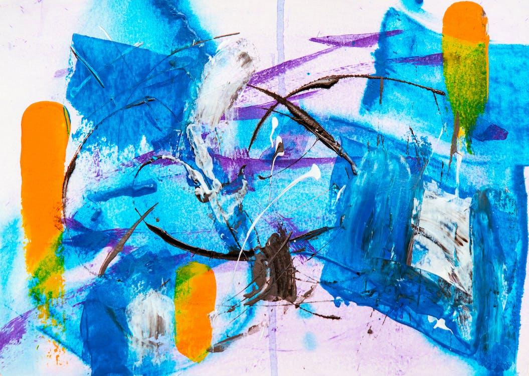abstract schilderij, achtergrond, acryl