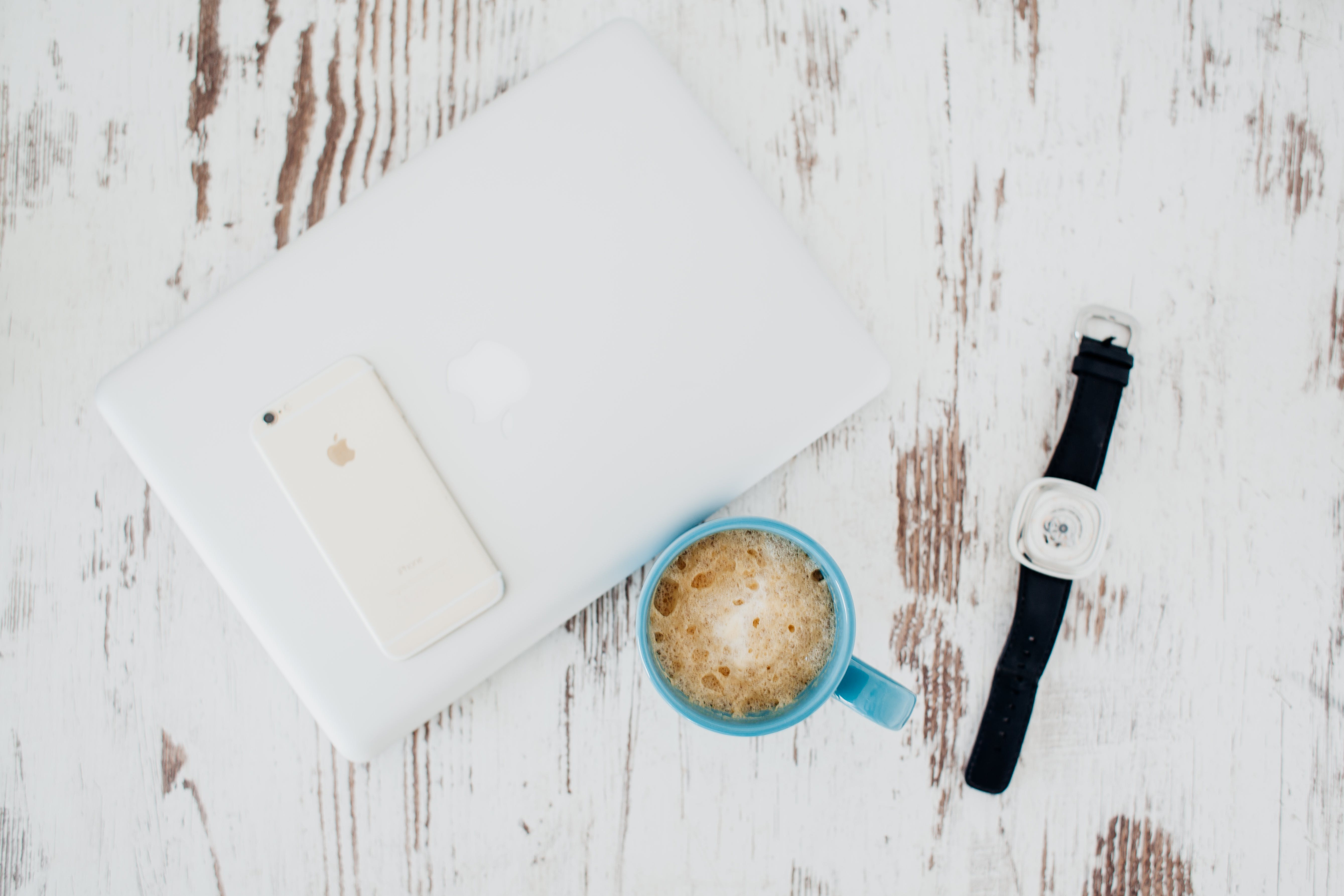Free stock photo of apple, black coffee, clean, laptop