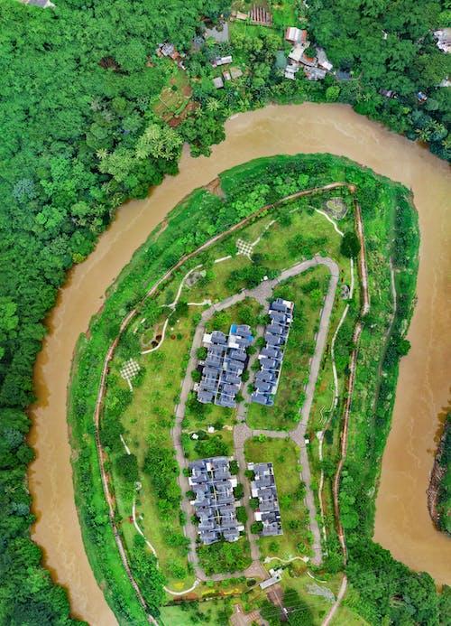 Photos gratuites de aérien, arbres, architecture, eau