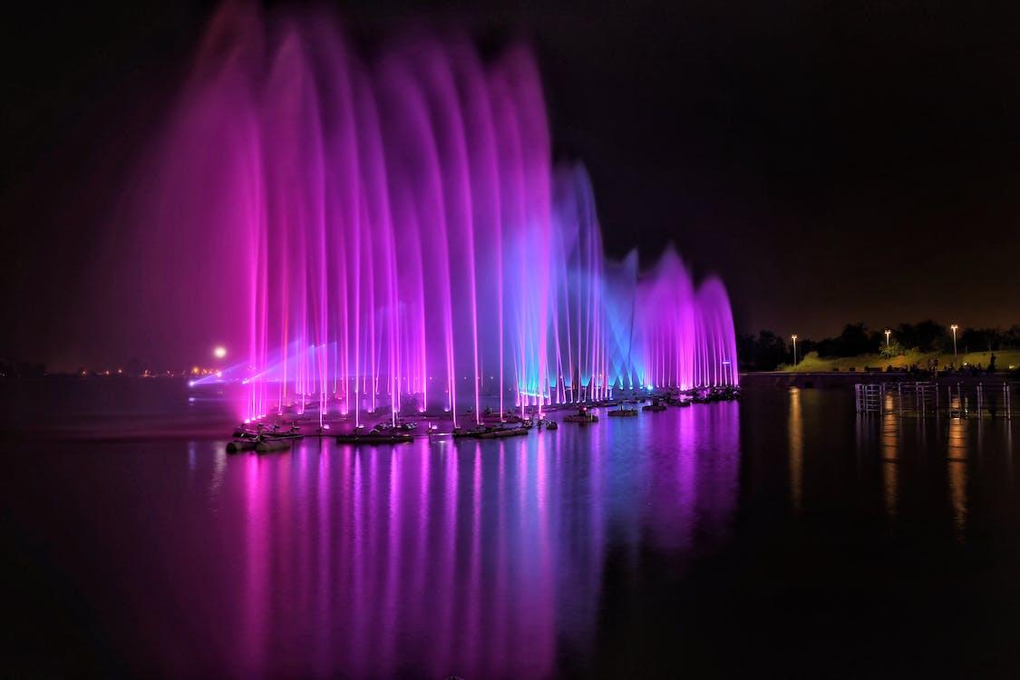fontána, jasný, ľahký