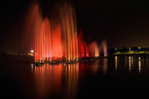 Long-Exposure Photography Of Fountain