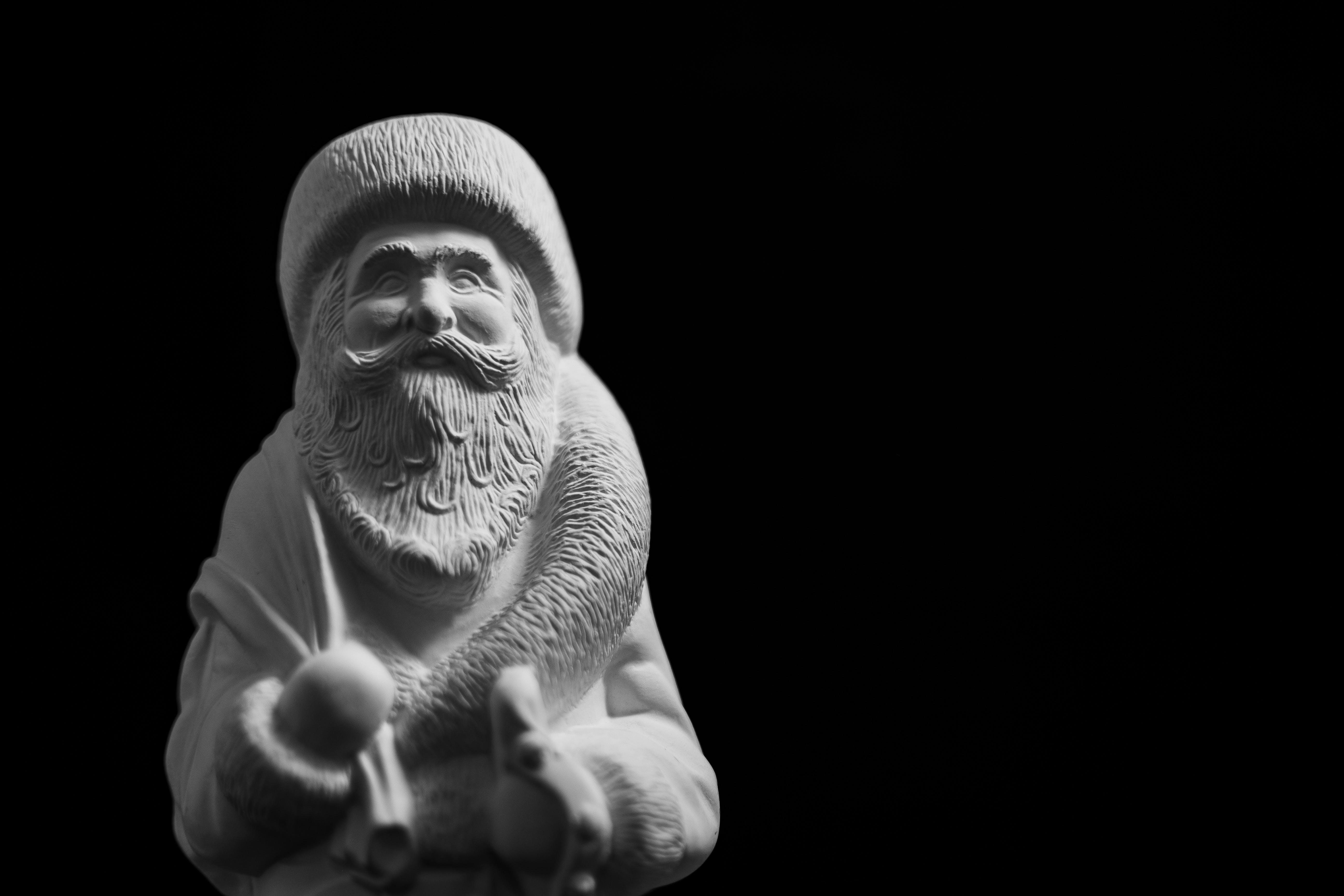 White Santa Claus Figurine