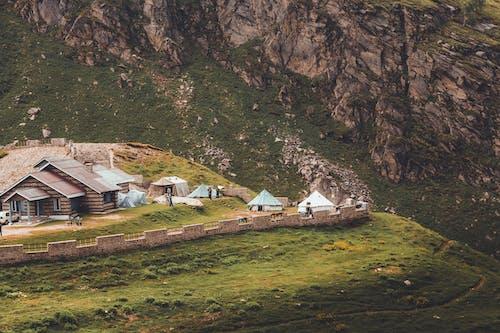 Imagine de stoc gratuită din case, colibe, deal, lumina zilei