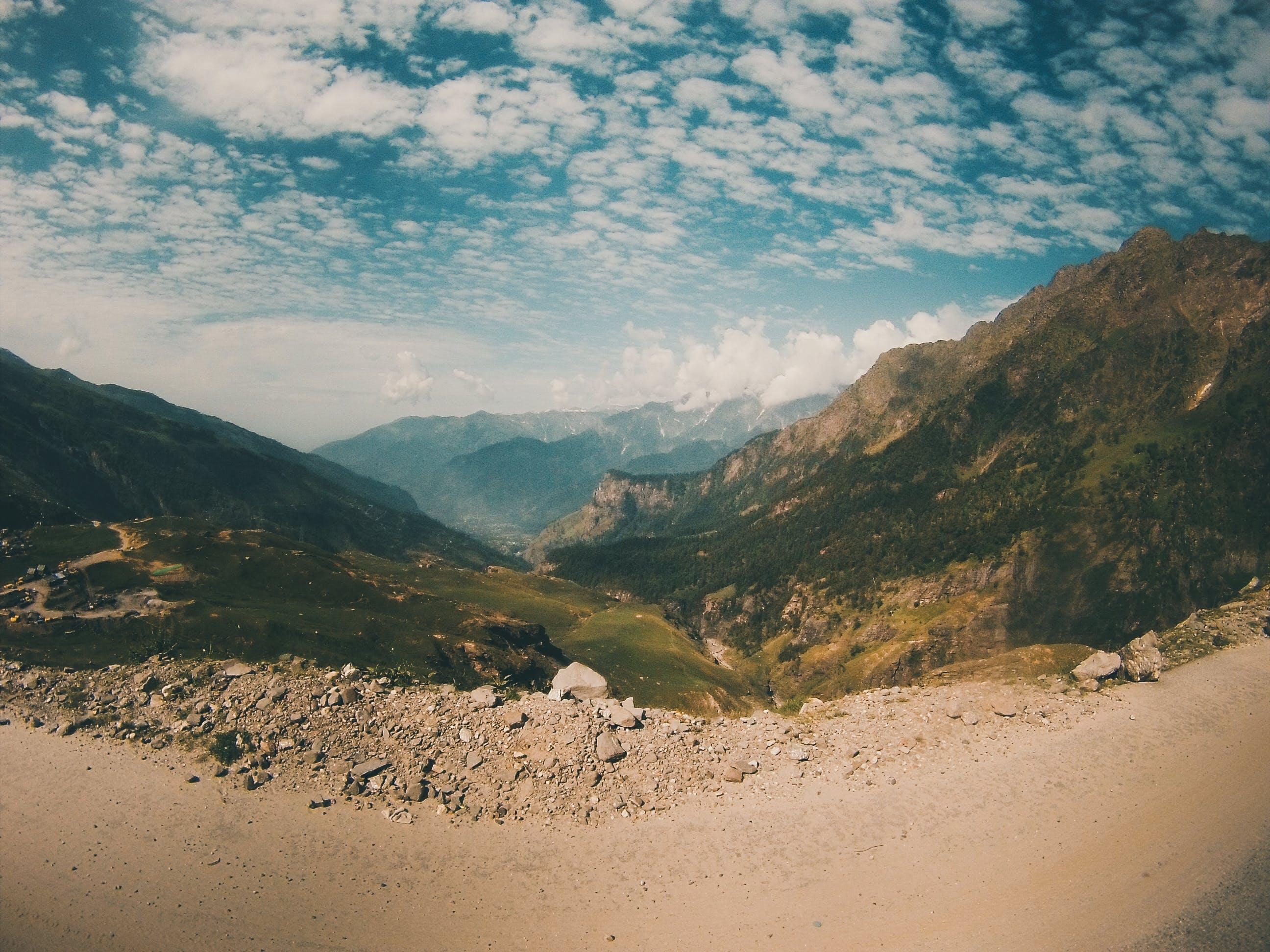 Fisheye Photography of Mountain Range