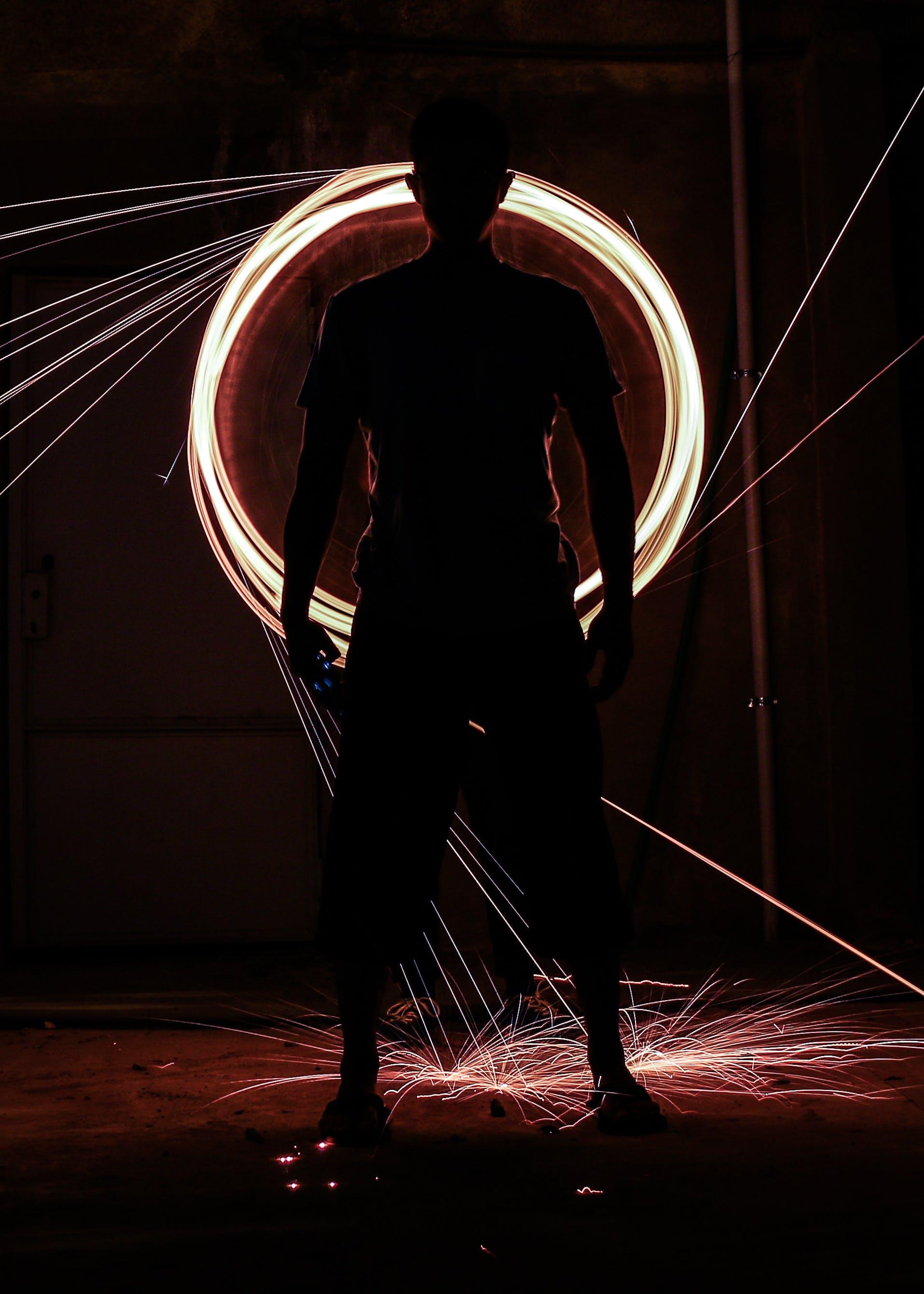 Time-lapse Photo of Poi Dancer