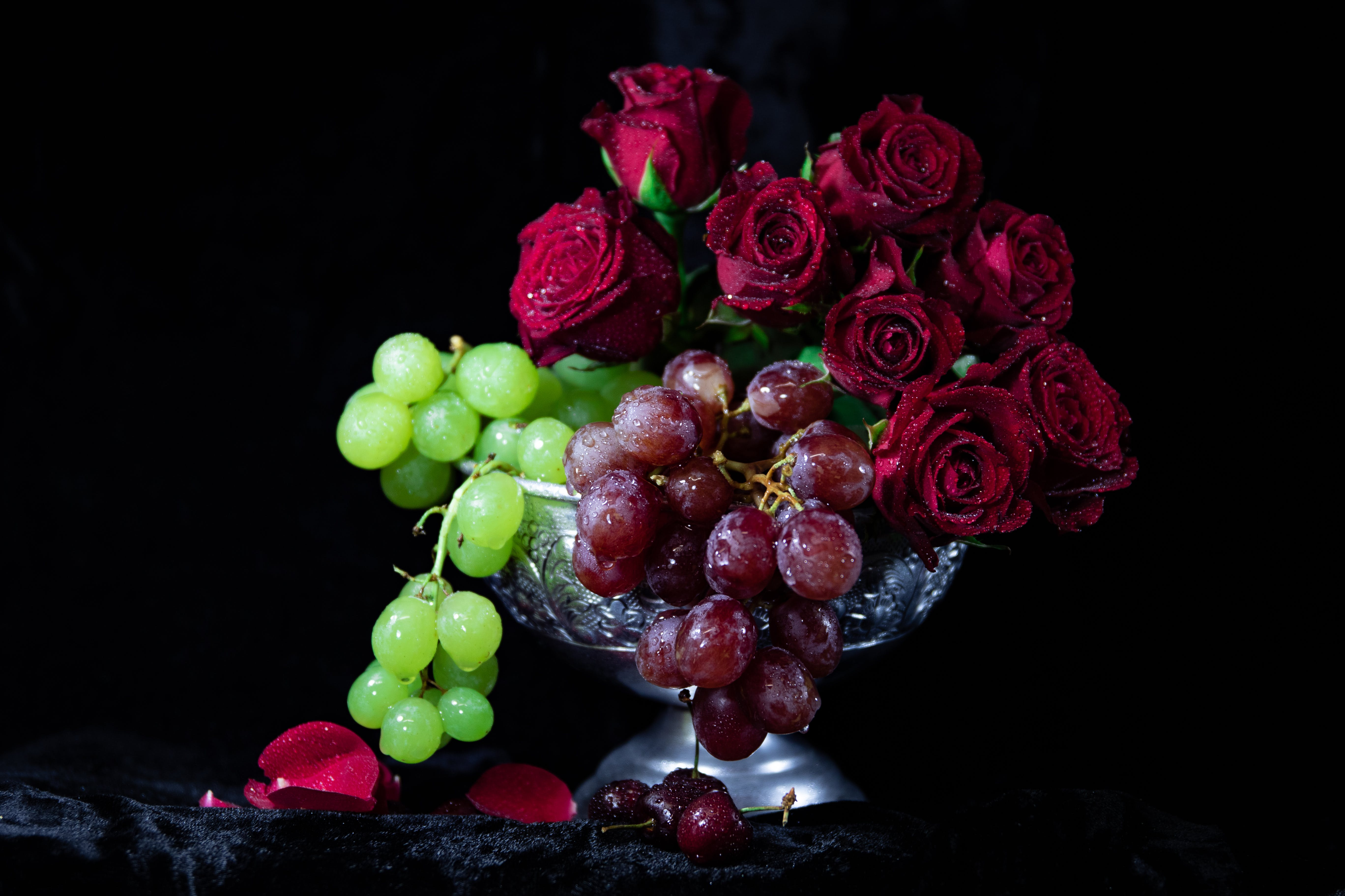 Red Roses And Grapes