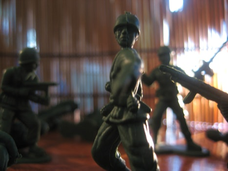 Free stock photo of toys, army men, soldiers toy, toy soldiers
