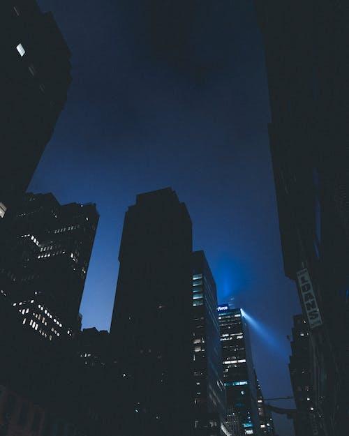 Бесплатное стоковое фото с ночной город, туман
