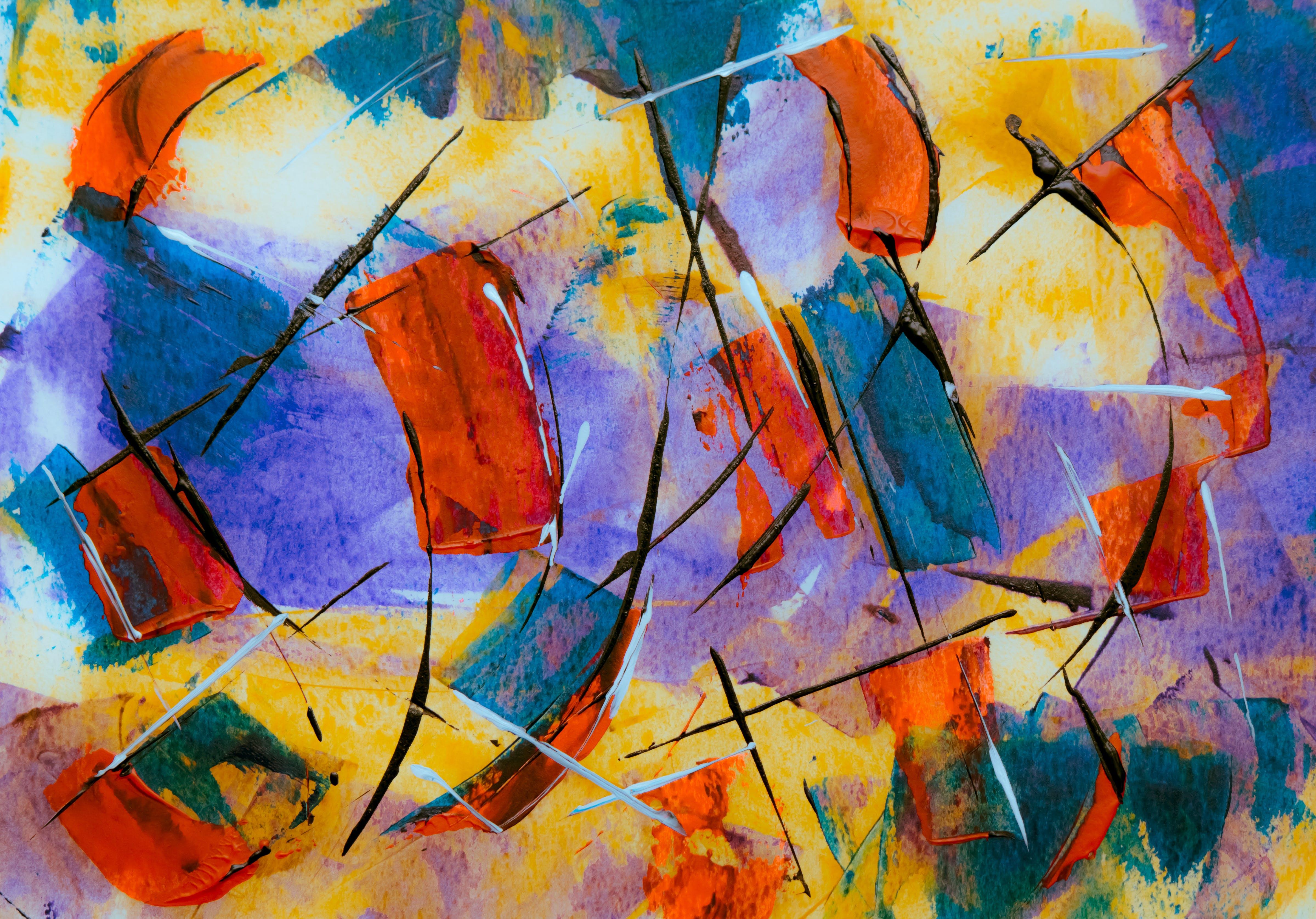 Kostenloses Stock Foto zu abstrakt, abstraktes gemälde, acrylfarbe, expressionismus