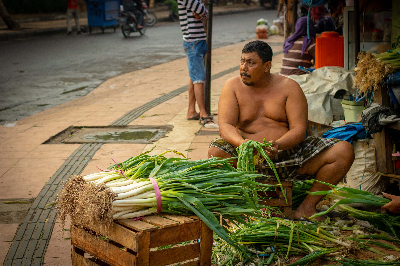 Free stock photo of Asian, indonesian, man, market