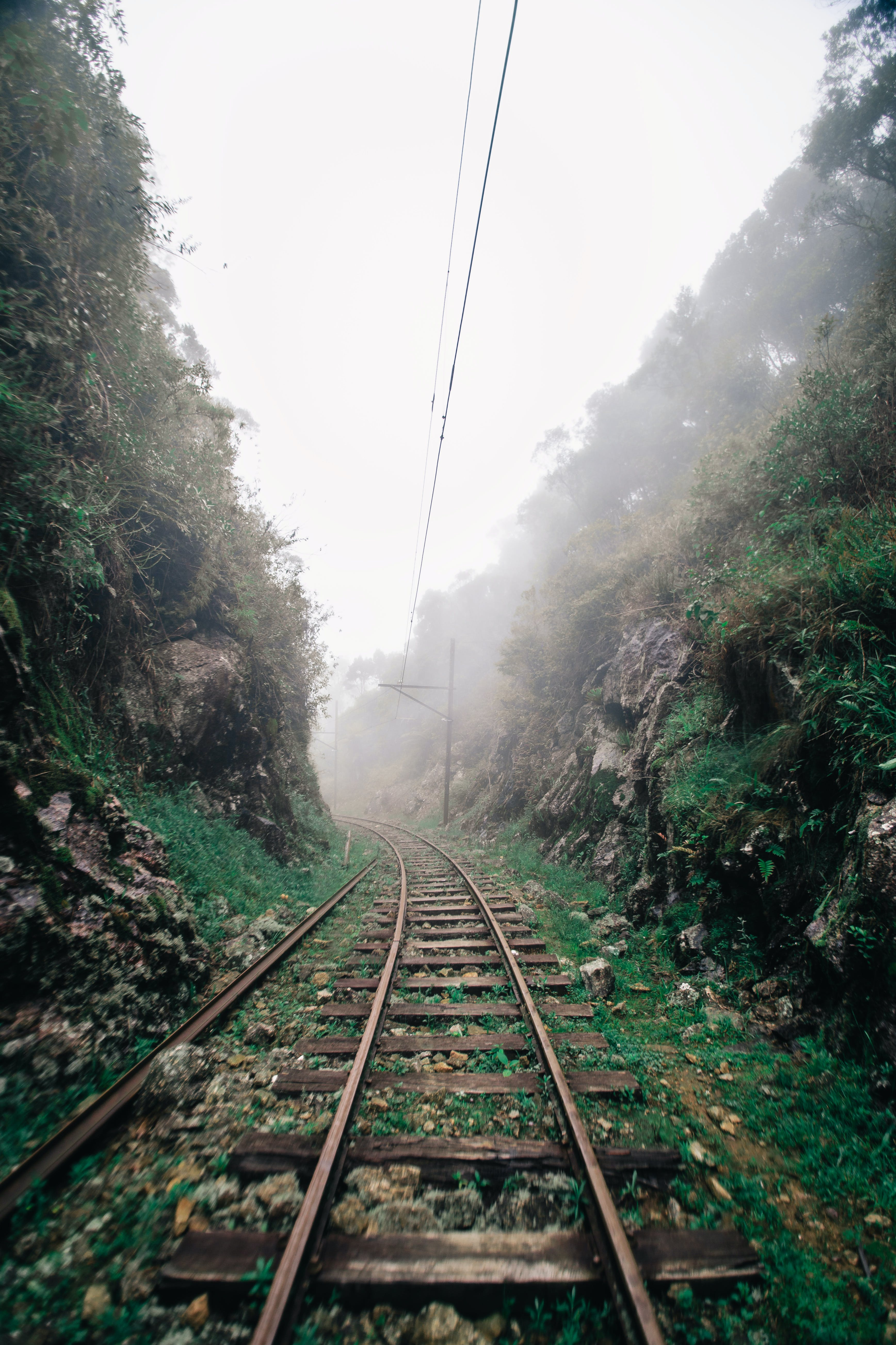 Photo of Railway With Fog