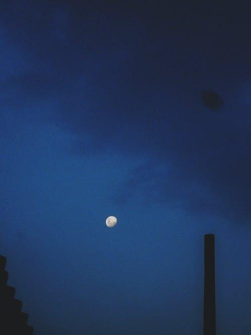 White Moon at Night
